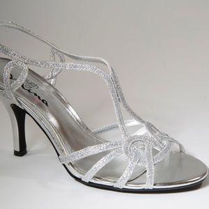 Silver Sparkle Bridal/Formal By Stiletto Heel